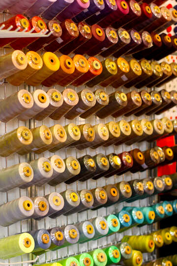 candles colorful line rolls spools №52536