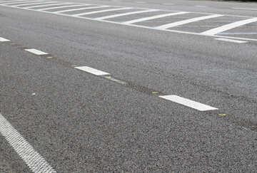 Straßenlinien weiß №52026