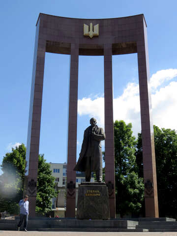 Stepan Bandera monument statue arch structure №52211