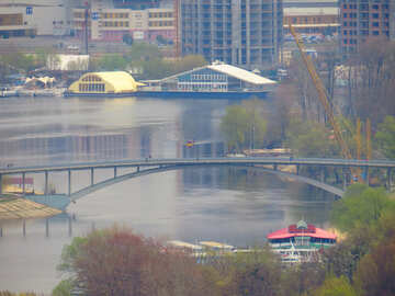 Bridge over water lake №52453