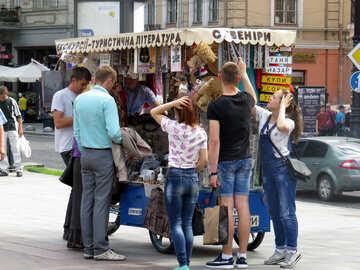 Essenswagen mit Menschen №52270