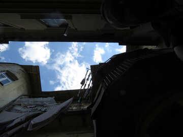 Pezzo degli edifici del cielo Nube del cielo aereo №52242