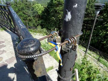 Fence post pole bungee cord locks lock №52091