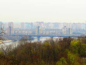 Kyiv  bridge a crossing over river №52417