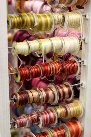 Rolls color ribbons bangles threads №52771