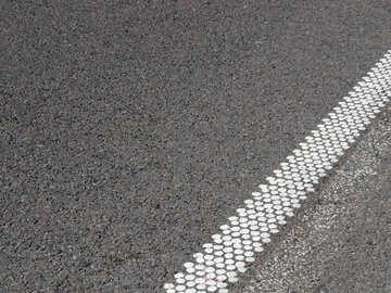 Straße markiert Sechsecke №52024