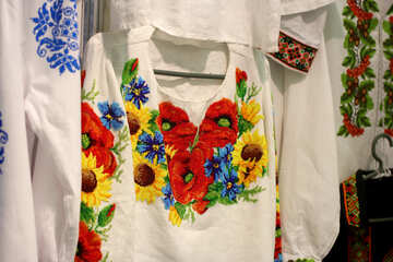 Shirt with a printed Floral flower clothes №52773