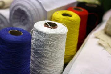 many colors of strings yarn spools Wool Cotton reels Thread №52944