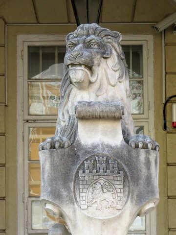 Estatua de piedra león №52338