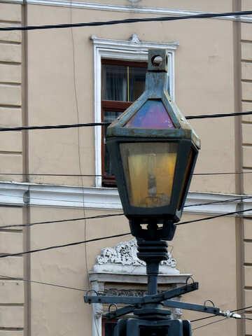 Light fixture of some sort post ligh lantern street №52283
