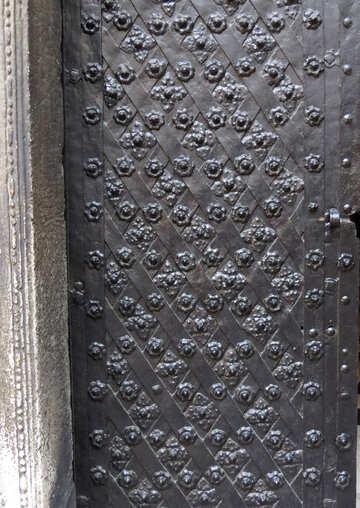 Black metal door  texture №52186