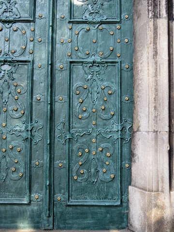 door blue green curvy designs doors №52194