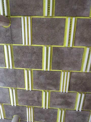 gray and yellow wall tile bricks block №52383