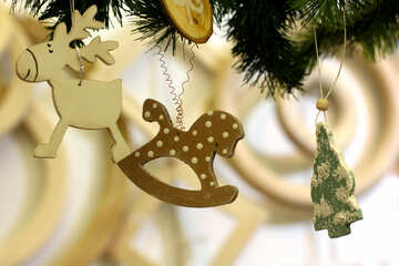 Christmas ornaments toy rocking horse №52869