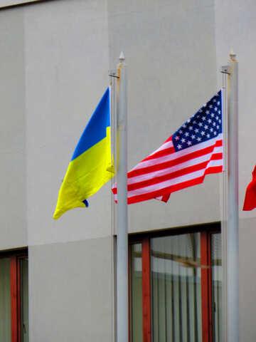 Ukraine  and USA flags №52469