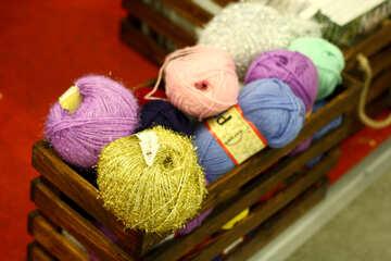 Ball of wool yarn balls №52650