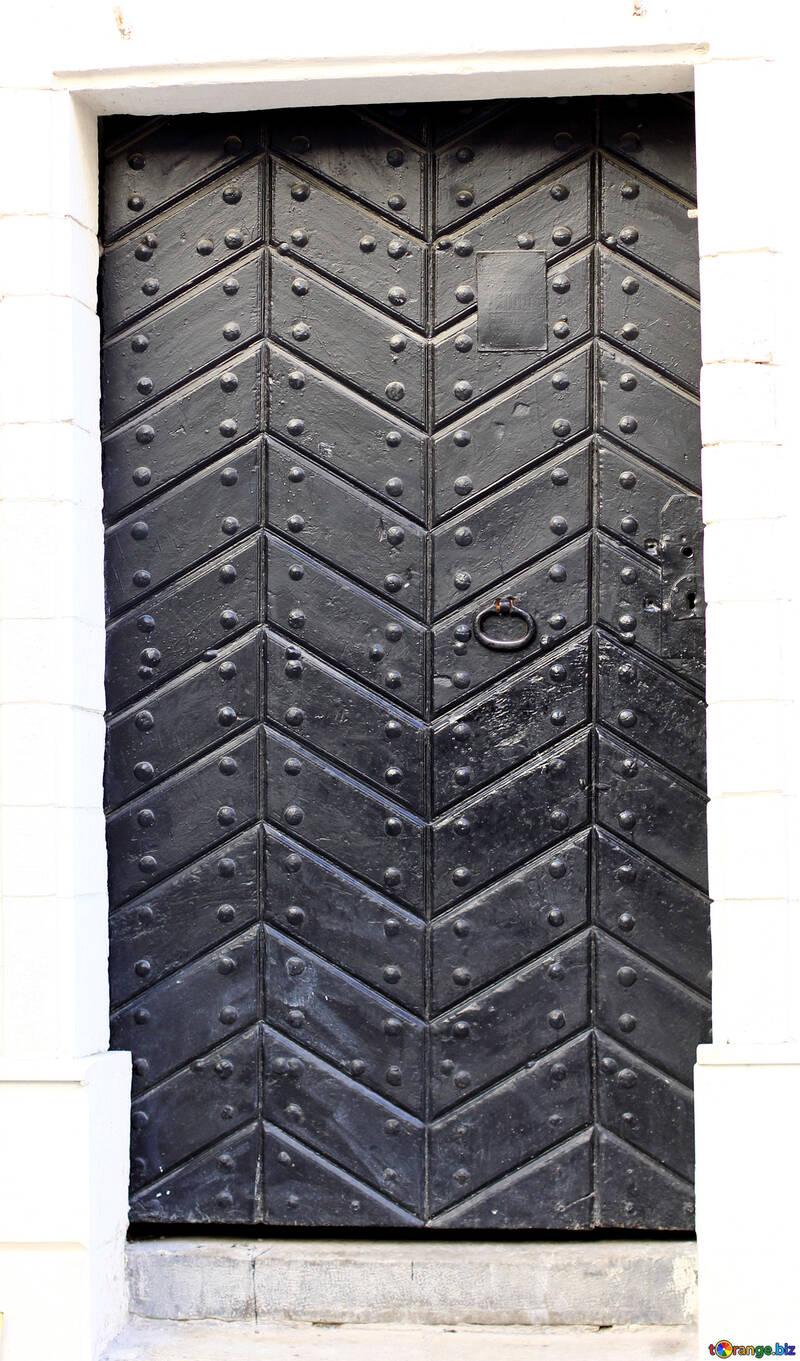Door black retro №52006