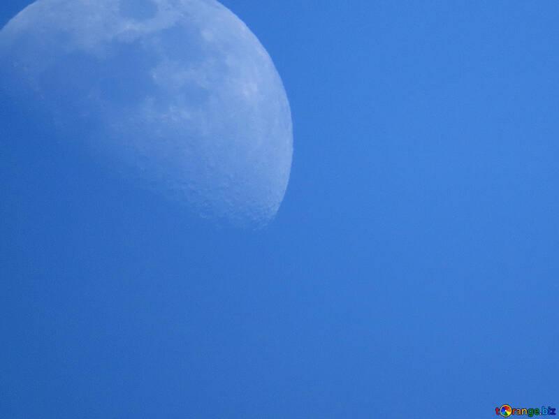 Mond auf blauem Hintergrund №52126