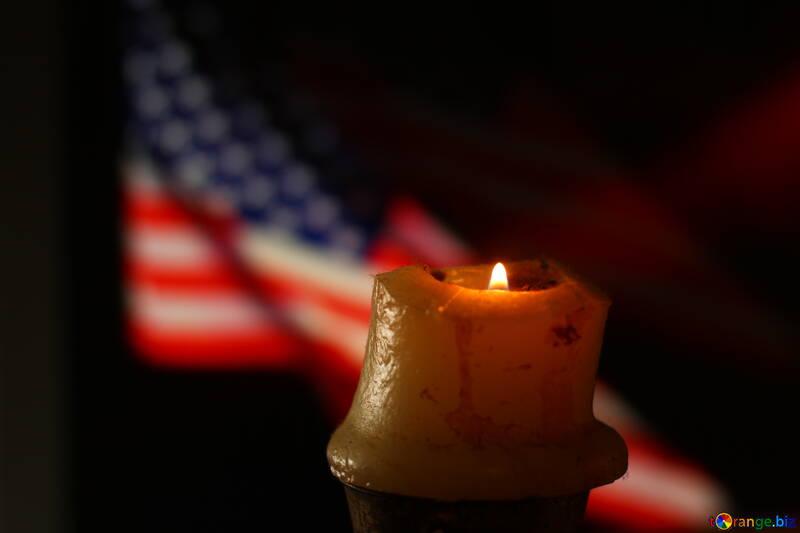 half usa vlag candle №52490