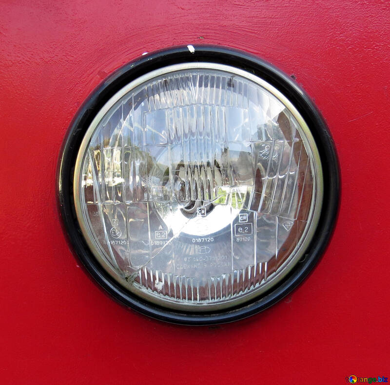 Red card old  headlamp Light bulb headlamps №52162