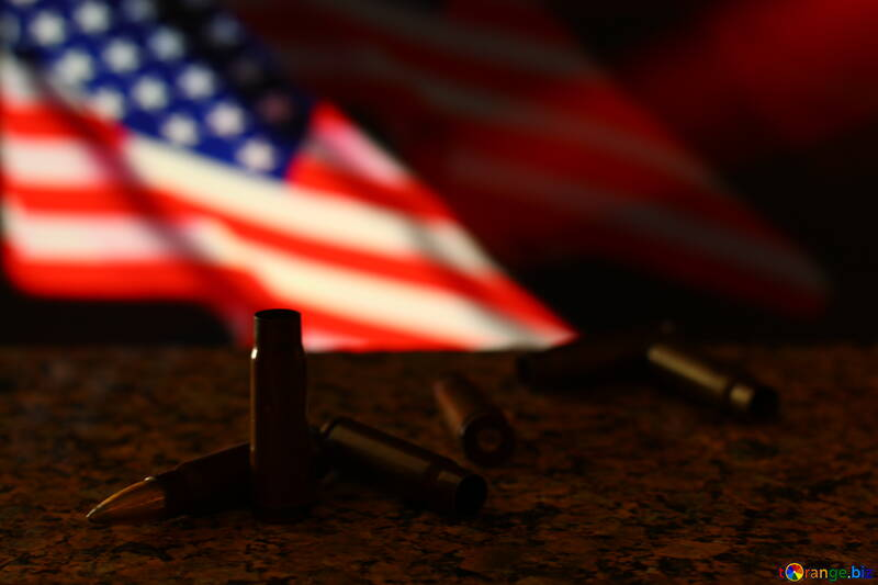 an american flag and bullets №52496