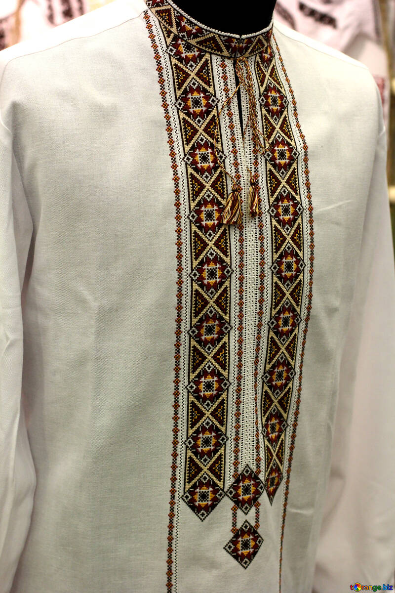 white embroidery cloth shirt №52848