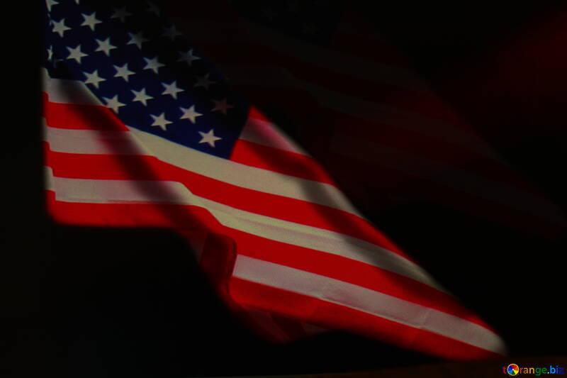 American Flag dark background №52480