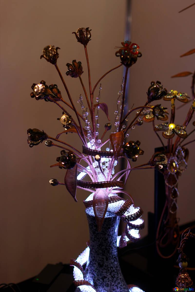 Flower lights vase №52966