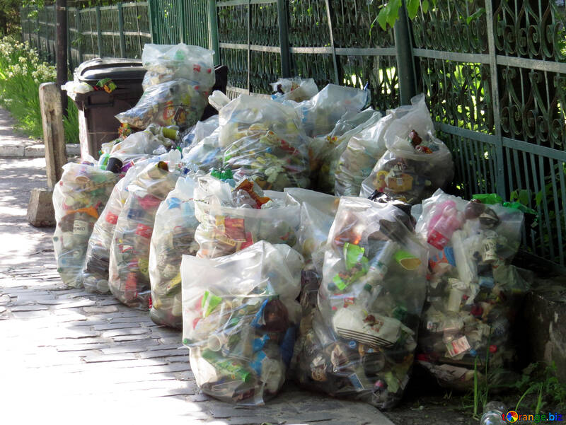 Müll in Plastiktüten №52131