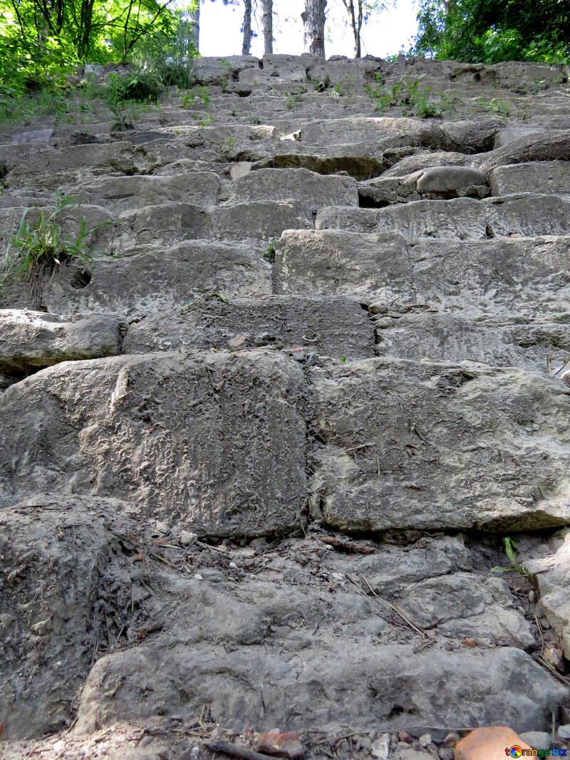 Royal stone stairs rock Bricks №52076