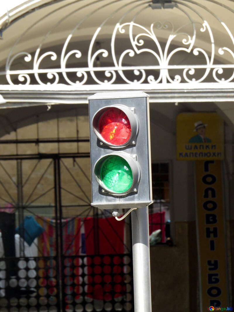 Traffic light red and green №52323