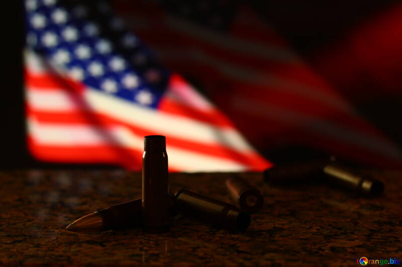 Us flag with bullets №52498