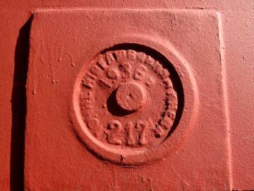 Sello en relieve de ladrillo marrón 1936 №53378