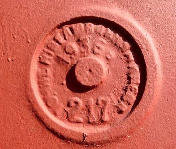Decoración 1936 Moneda grabada Números de hidrante naranja en relieve №53377