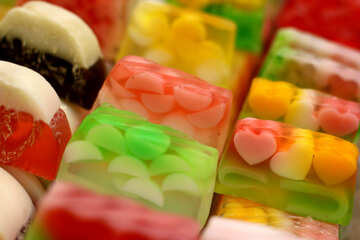 Fruit candy jelly sweets soap №53099