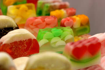Jello and Fruit sweets candy gummis jelly cake №53094