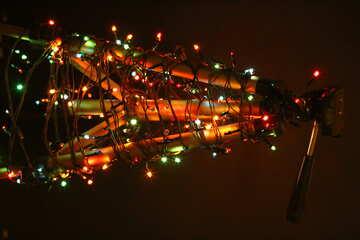 telescope with christmas lights №53623
