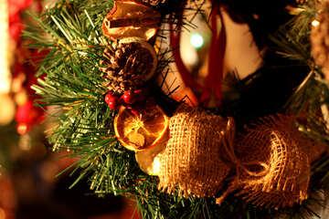 xmas decoration christmas tree wreath pinecones №53539
