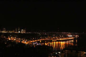 Città nelle luci della notte oscura №53600