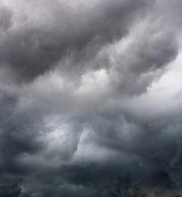 Clouds, a little dark gray sky storm №53244
