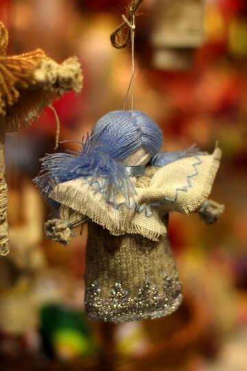 Angel christmas ornament hanging doll №53509