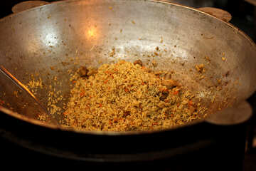 Fried rice on the pan №53493