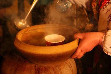 spoon pot soup bowl №53576