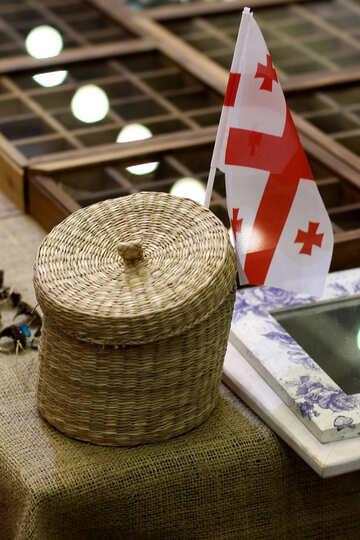 basket with georgian flag №53126