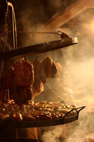 beautiful Smoked Meat Sausage Food №53547