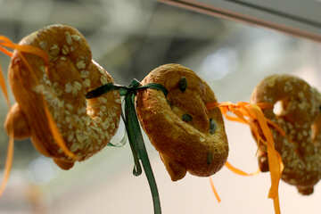 hanging meat pastry food pastries №53044