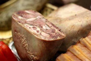 Meat ham sliced №53081