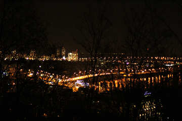 Luci alla vista notturna della città Città delle luci notturne №53593