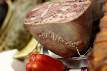 red meat saussage ham №53082