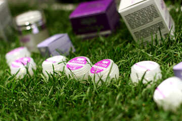 Cosmetics boxed on Grass №53008
